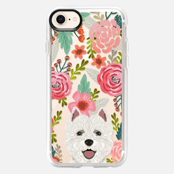 372e7b3b68 Highland Terrier cute florals girly hipster trendy transparent cell phone  case dog breeds gifts for dog ...