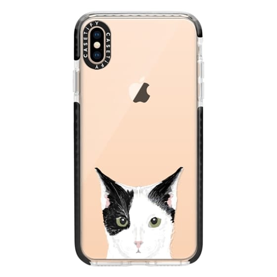 iPhone XS Max Cases - Cute Cat - Grey, black and white cat for cat ladies and cat people iphone 6 transparent case for cat lovers