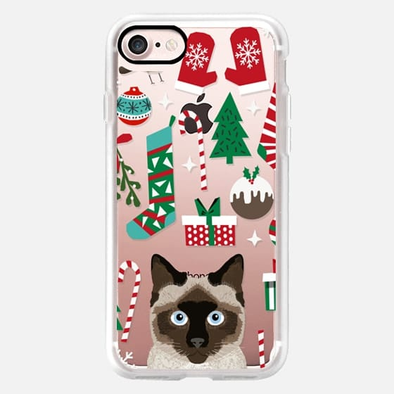 Siamese cute christmas cat cell phone tech accessories for cat lady cat person cat lover -