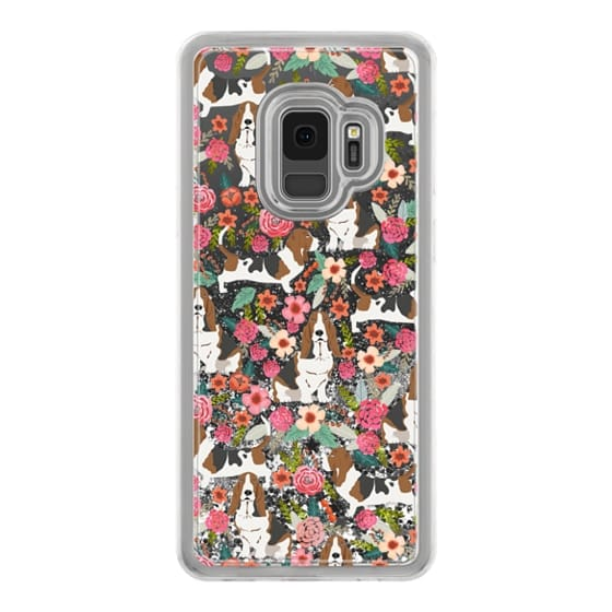 Basset Hound floral cute pastel cell phone case for dog person basset hound owner must haves