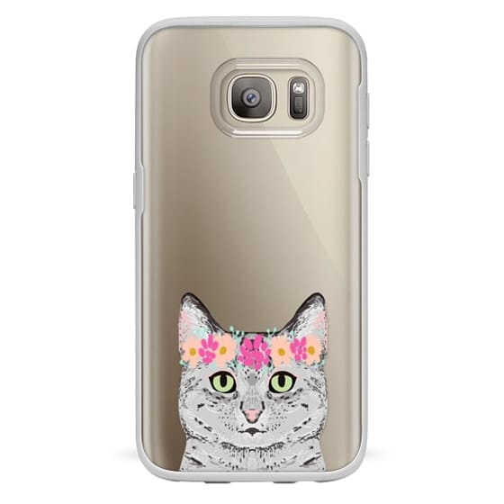 Grey Tabby Cat cute cat gift idea for cat person cat lady cell phone cases