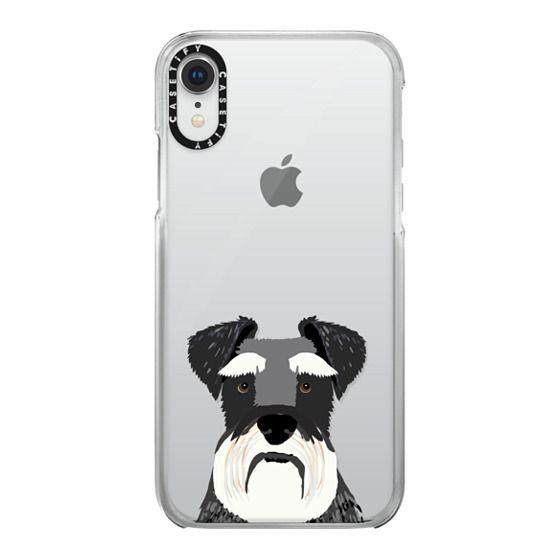 IPhone 8 Case Dog Case Schnauzer White