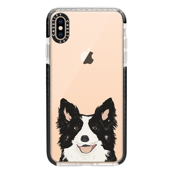 low priced 7bbcd 9a954 Impact iPhone XS Max Case - Border Collie Transparent Cell Phone Case for  iPhone