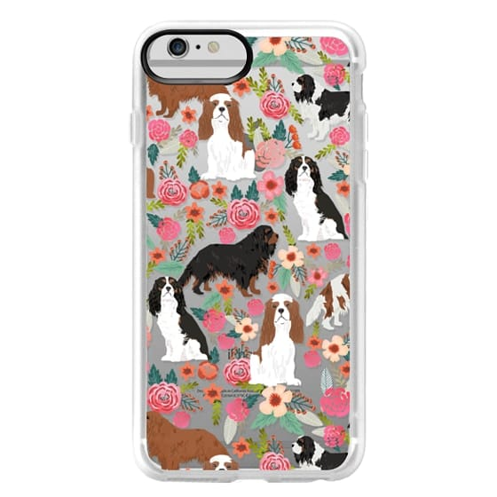 iPhone 6 Plus Cases - Cavalier King Charles Spaniel florals cell phone case for dog person unique dog breed custom gifts by pet friendly