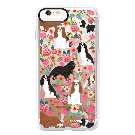iPhone 6s Plus Cases - Cavalier King Charles Spaniel florals cell phone case for dog person unique dog breed custom gifts by pet friendly