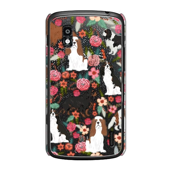Nexus 4 Cases - Cavalier King Charles Spaniel florals cell phone case for dog person unique dog breed custom gifts by pet friendly