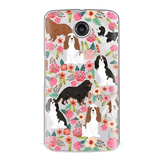 Nexus 6 Cases - Cavalier King Charles Spaniel florals cell phone case for dog person unique dog breed custom gifts by pet friendly