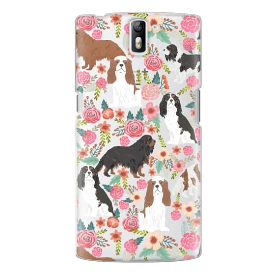 One Plus One Cases - Cavalier King Charles Spaniel florals cell phone case for dog person unique dog breed custom gifts by pet friendly