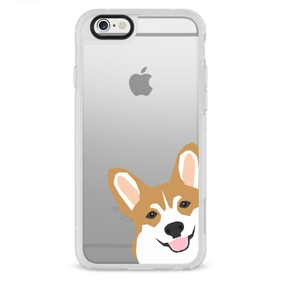 iPhone 6 Plus Cases - Corgi peek cute gift for corgi welsh corgi owners love iphone6 transparent cell phone cases with their dog gifts