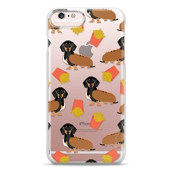 iPhone 6s Plus Cases - Dachshund cute hot dog and french fries junk food moxie owners must haves iphone6 transparent pet portraits