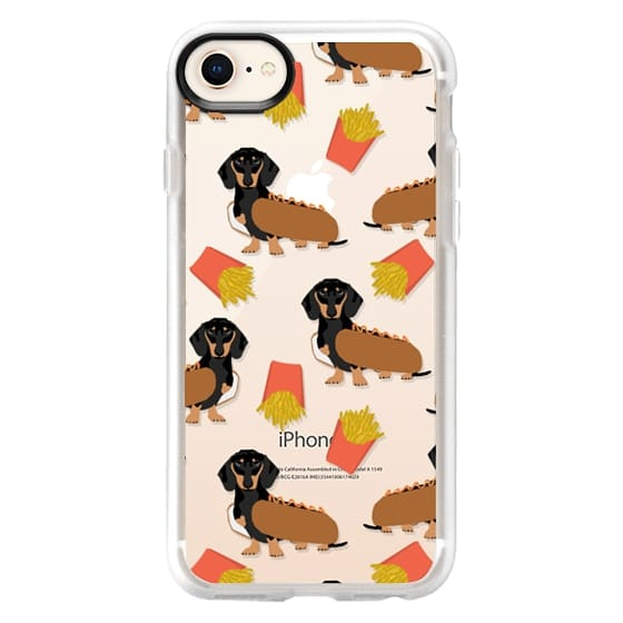 iPhone 8 Cases - Dachshund cute hot dog and french fries junk food moxie owners must haves iphone6 transparent pet portraits