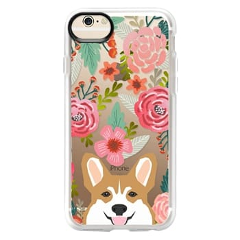 Grip iPhone 6 Case - Corgi in the flowers cute spring corgi dog cell phone case for corgi owners