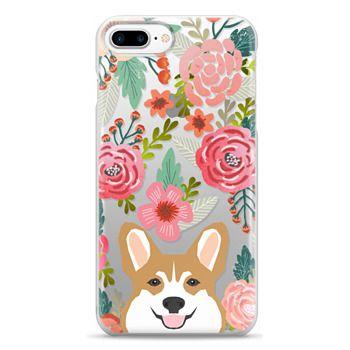 Snap iPhone 7 Plus Case - Corgi in the flowers cute spring corgi dog cell phone case for corgi owners