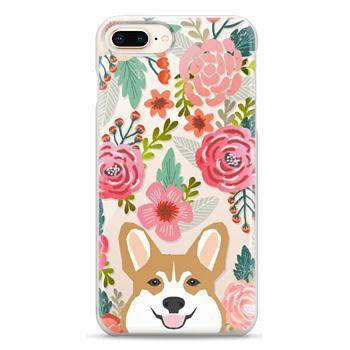 Snap iPhone 8 Plus Case - Corgi in the flowers cute spring corgi dog cell phone case for corgi owners