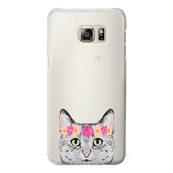 Samsung Galaxy S6 Edge Plus Cases - Grey Tabby Cat cute cat gift idea for cat person cat lady cell phone cases
