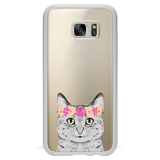 Samsung Galaxy S7 Edge Cases - Grey Tabby Cat cute cat gift idea for cat person cat lady cell phone cases