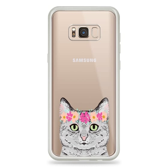 Samsung Galaxy S8 Plus Cases - Grey Tabby Cat cute cat gift idea for cat person cat lady cell phone cases