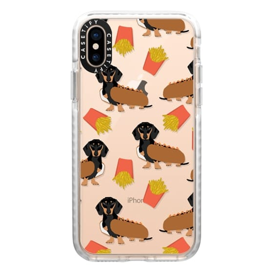 iPhone XS Cases - Dachshund cute hot dog and french fries junk food moxie owners must haves iphone6 transparent pet portraits