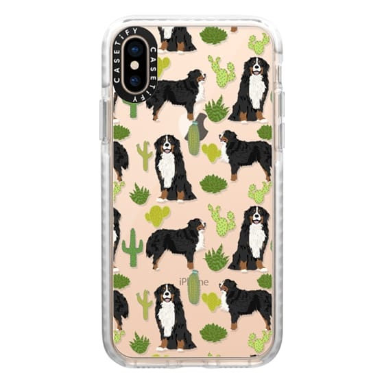iPhone XS Cases - Bernese Mountain Dog cactus southwest desert style dog gifts for bernese owner