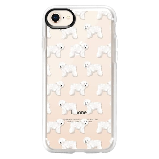 iPhone 8 Cases - Bichon cute cell phone case for bichon frise owner cute little white fluffy dog cell phone case