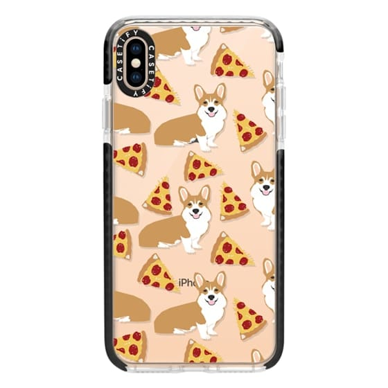 iPhone XS Max Cases - Corgi pizza cheesy slices welsh corgi lovers cell phone case must have gifts for dog person with corgis