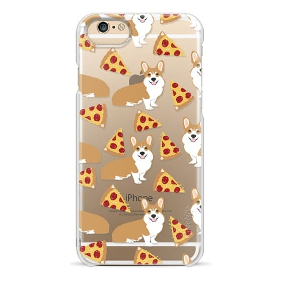 iPhone 6 Cases - Corgi pizza cheesy slices welsh corgi lovers cell phone case must have gifts for dog person with corgis