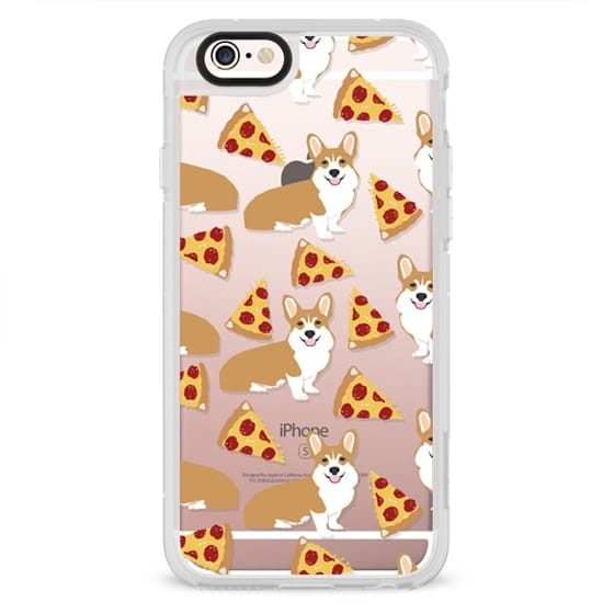 uk availability 0b571 3dbb2 Classic Snap iPhone SE Case - Corgi pizza cheesy slices welsh corgi lovers  cell phone case must have gifts for dog person with corgis