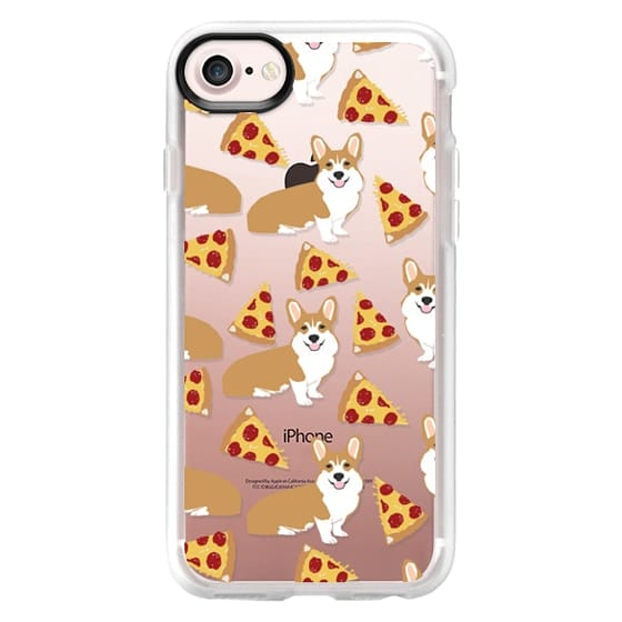 iPhone 7 Cases - Corgi pizza cheesy slices welsh corgi lovers cell phone case must have gifts for dog person with corgis