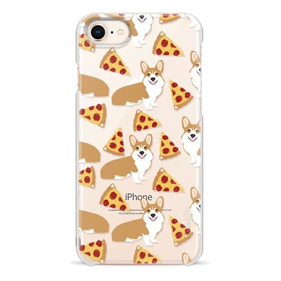iPhone 8 Cases - Corgi pizza cheesy slices welsh corgi lovers cell phone case must have gifts for dog person with corgis