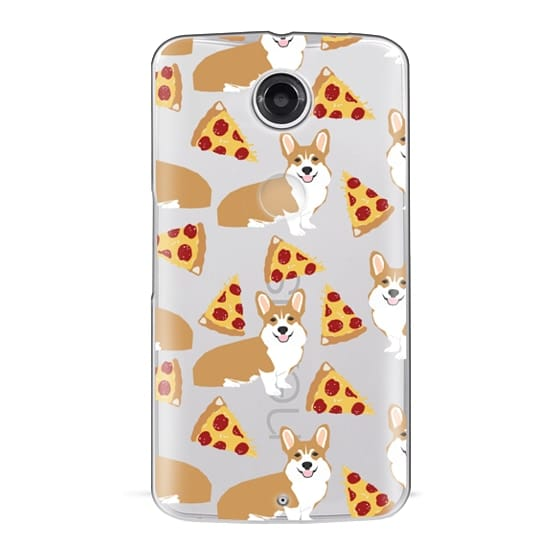 Nexus 6 Cases - Corgi pizza cheesy slices welsh corgi lovers cell phone case must have gifts for dog person with corgis