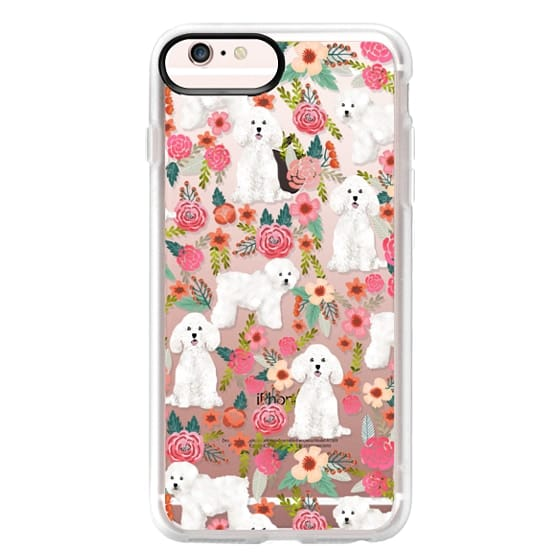 iPhone 6s Plus Cases - Bichon florals dog breed must have gifts for bichon frise cute fluffy white dog owners rejoice at this gift