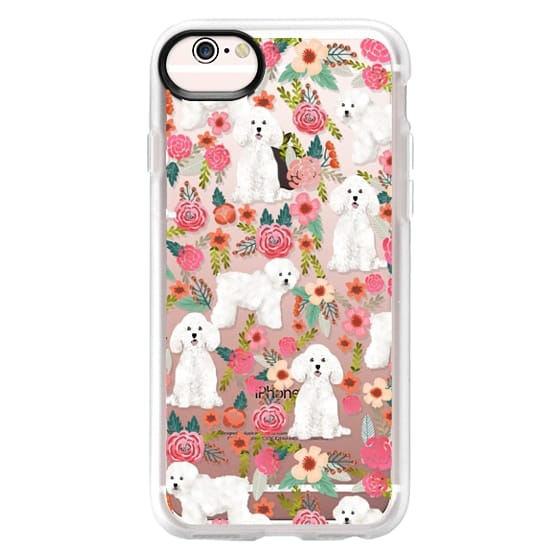 iPhone 6s Cases - Bichon florals dog breed must have gifts for bichon frise cute fluffy white dog owners rejoice at this gift