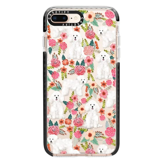 iPhone 8 Plus Cases - Bichon florals dog breed must have gifts for bichon frise cute fluffy white dog owners rejoice at this gift