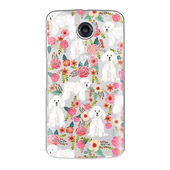 Nexus 6 Cases - Bichon florals dog breed must have gifts for bichon frise cute fluffy white dog owners rejoice at this gift