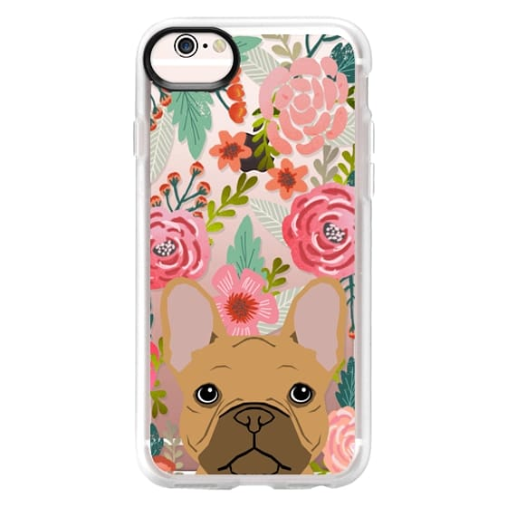 iPhone 6s Cases - French Bulldog tan cute pet portrait florals spring summer flowers transparent cell phone case
