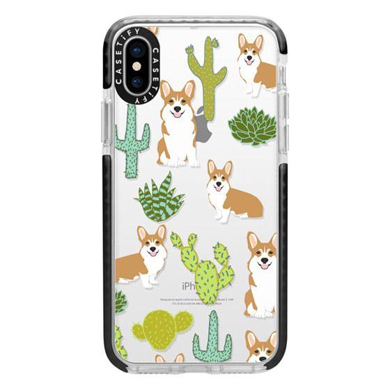 iPhone X Cases - Corgi welsh corgi cute cacti succulents nature pattern iphone6 transparent cell phone case dog portrait pet art