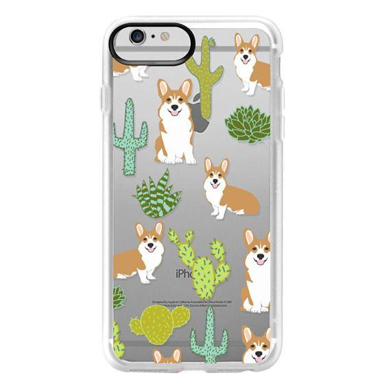 iPhone 6 Plus Cases - Corgi welsh corgi cute cacti succulents nature pattern iphone6 transparent cell phone case dog portrait pet art