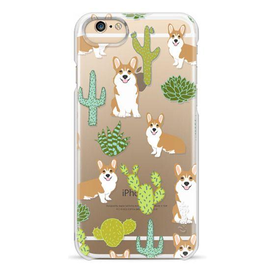 iPhone 6 Cases - Corgi welsh corgi cute cacti succulents nature pattern iphone6 transparent cell phone case dog portrait pet art