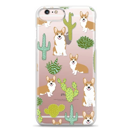 iPhone 6s Plus Cases - Corgi welsh corgi cute cacti succulents nature pattern iphone6 transparent cell phone case dog portrait pet art