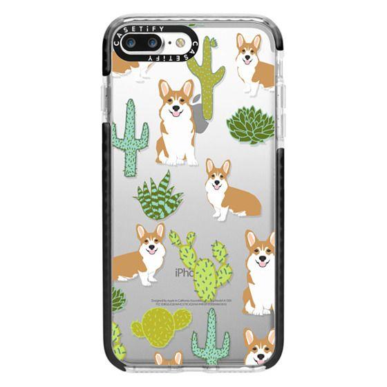 iPhone 7 Plus Cases - Corgi welsh corgi cute cacti succulents nature pattern iphone6 transparent cell phone case dog portrait pet art