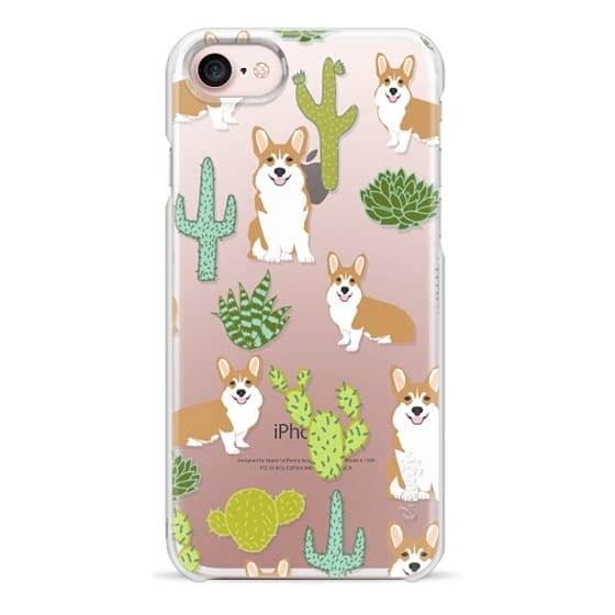 iPhone 7 Cases - Corgi welsh corgi cute cacti succulents nature pattern iphone6 transparent cell phone case dog portrait pet art