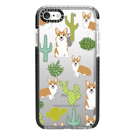 iPhone 7 Cases - Corgi welsh corgi cute cacti succulents nature pattern iphone6 transparent cell phone case dog portrait pet art