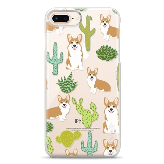 iPhone 8 Plus Cases - Corgi welsh corgi cute cacti succulents nature pattern iphone6 transparent cell phone case dog portrait pet art