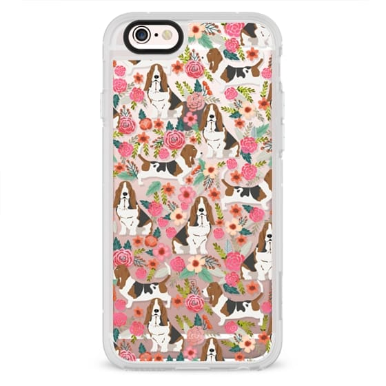 iPhone 6s Cases - Basset Hound floral cute pastel cell phone case for dog person basset hound owner must haves