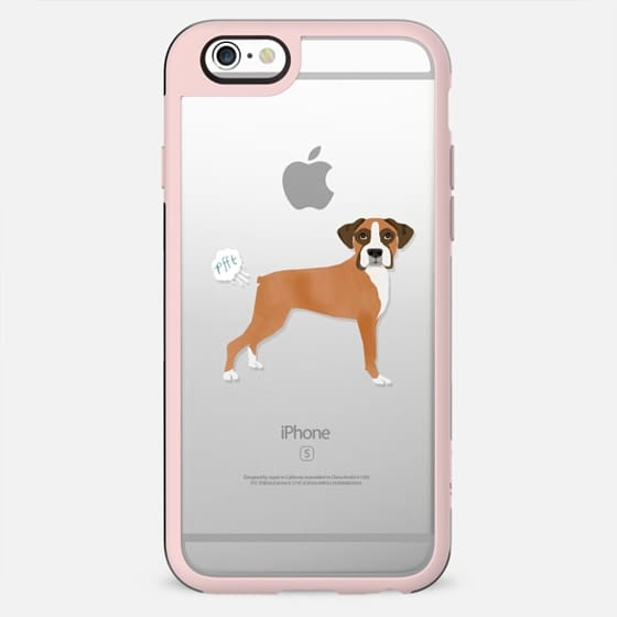 Boxer dog clear case dog fart funny tech accessories pure breed dog lover