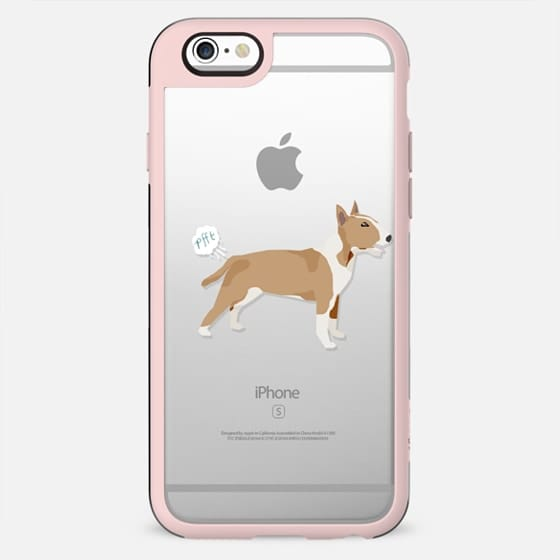 Bull Terrier clear case dog fart funny tech accessories pure breed dog lover - New Standard Case