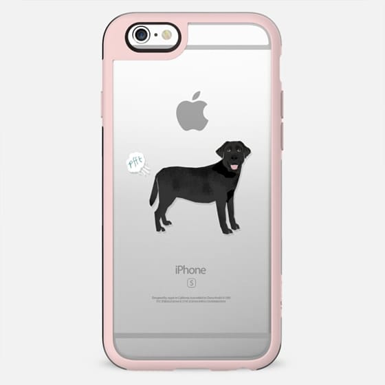 Black Lab dog breed clear case pupper fart cute funny gifts for pure breed dog lovers - New Standard Case