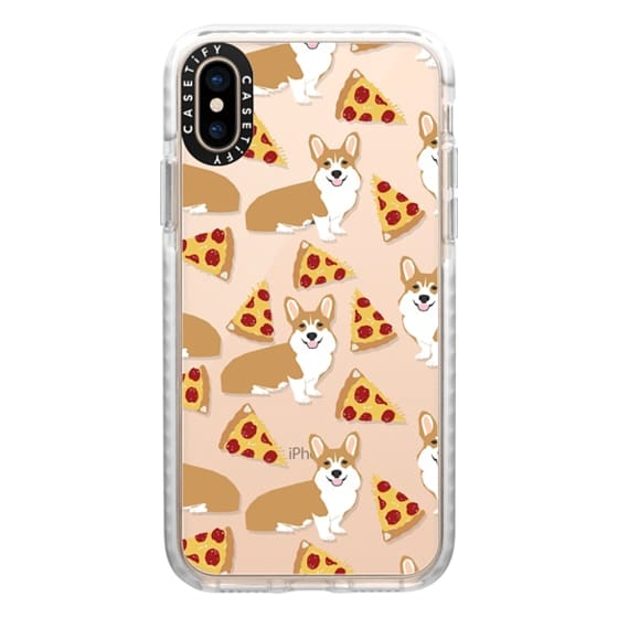 iPhone XS Cases - Corgi pizza cheesy slices welsh corgi lovers cell phone case must have gifts for dog person with corgis