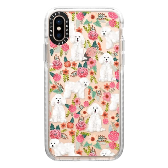 iPhone XS Cases - Bichon florals dog breed must have gifts for bichon frise cute fluffy white dog owners rejoice at this gift