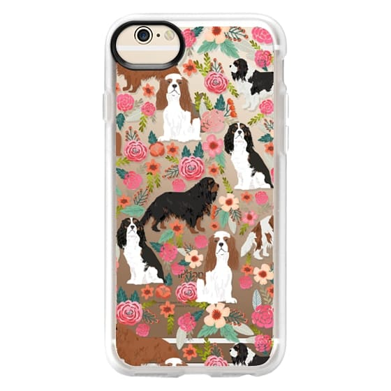 iPhone 6 Cases - Cavalier King Charles Spaniel florals cell phone case for dog person unique dog breed custom gifts by pet friendly